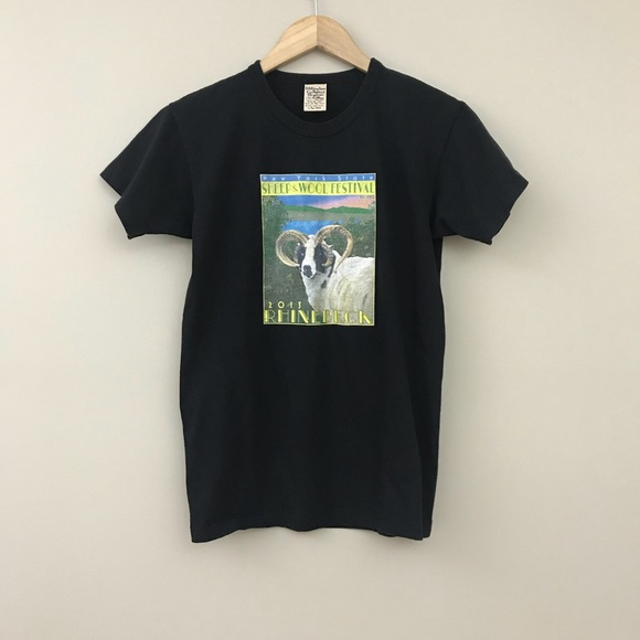 NY Sheep & Wool Festival Rhinebeck T Shirt M B0